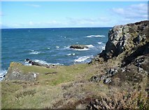 NS2109 : Glasson Rock on a stormy day by Gordon Brown