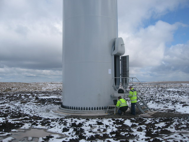Turbine Tower No 25 undergoing final testing