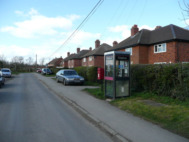Council houses and telephone box, Russell's Water