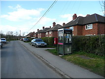 SU7089 : Council houses and telephone box, Russell's Water by Jonathan Billinger