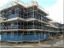 SU7422 : Impressive scaffolding in Grange Road by Basher Eyre