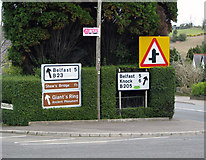 J3267 : Signs, Ballylesson by Rossographer