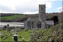 SX1156 : St Winnow Church and the Fowey River by roger geach