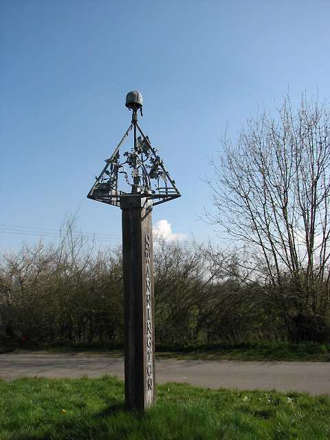 Village sign by Evelyn Simak