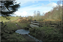 NH6762 : Footbridge over the Allt Dubhach by George Brown