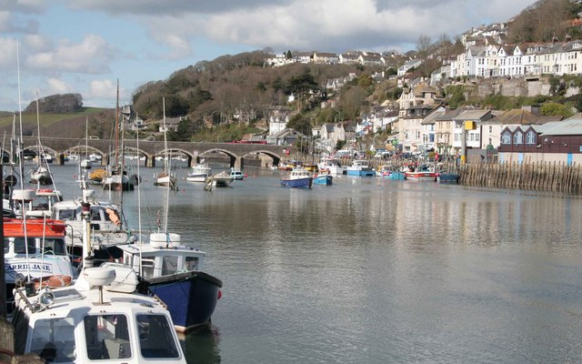 Fishing Boats tied up at West Looe Quay
