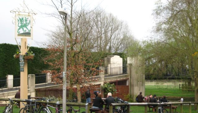 Green Dragon pub garden
