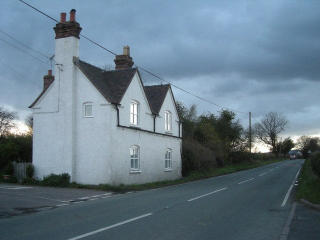 Cottage at sunset