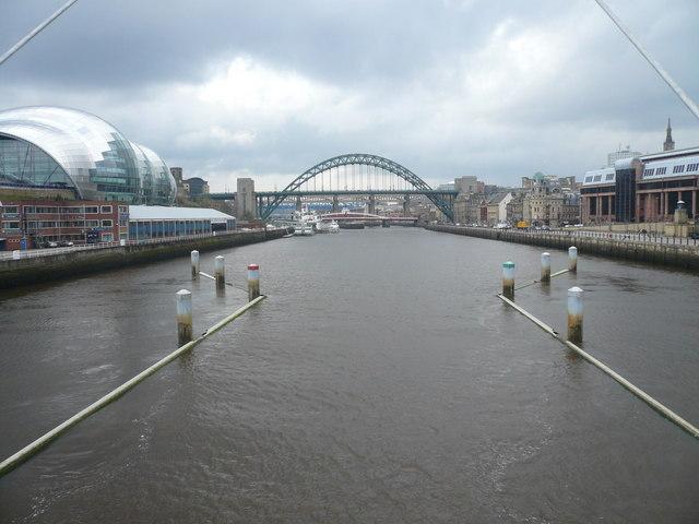 Millennium Bridge View - Halfway across