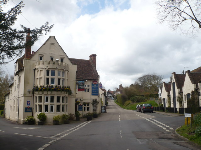 The Woolpack Inn on the corner of The Street and Hambrook Lane