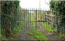 J4846 : Gates near the Quoile (2 of 3) by Albert Bridge