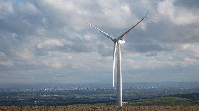 Scout Moor Wind Farm Turbine Tower No 1