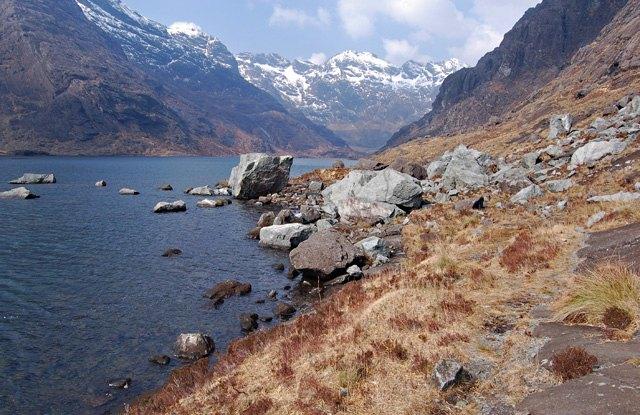 Fresh rockfall at Loch Coruisk by John Allan
