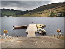 SK2086 : Rowing boats for fly fishing on the Ladybower Reservoir by Steve  Fareham