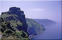 SS7049 : Castle Rock, Lynton, Devon taken 1967 by Christine Matthews