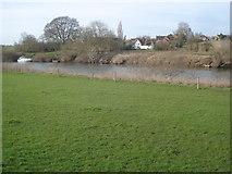 SO8442 : River Severn near Church End by Trevor Rickard