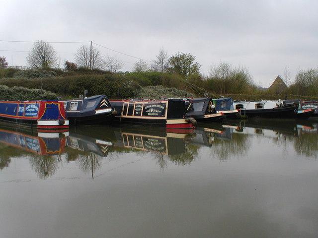Narrow boats at Buckby Wharf by Row17