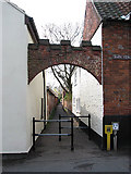 TG1022 : Alley leading south from Back Street by Evelyn Simak
