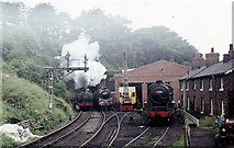 NZ8204 : View of shed and tunnel entrance at Grosmont by John Firth