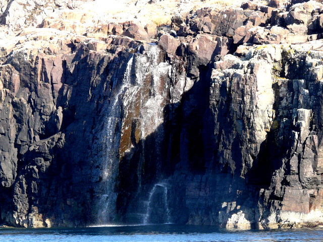 Waterfall in to the Sound of Handa