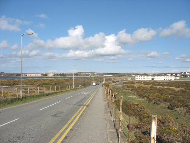 The road linking the Domestic Site (the Camp ) with the Airfield at RAF Valley