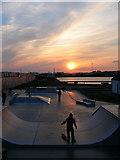 TQ2704 : Skate Park, Hove Lagoon by Simon Carey