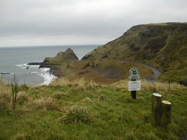 The road to the Giants Causeway