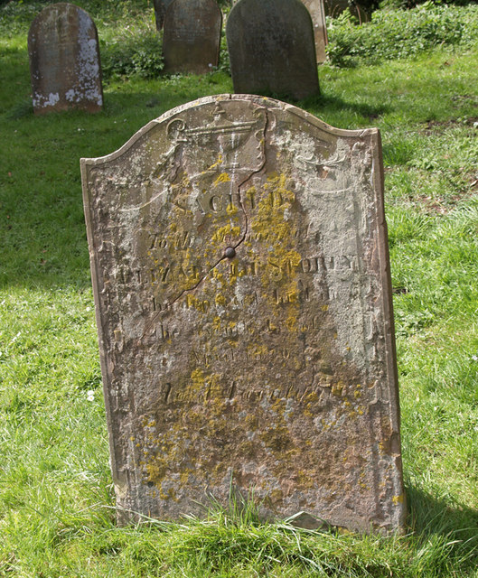 Weathered Gravestone at St. Andrew's Church