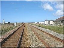 SH3175 : Railway north of Trewin Sands crossing by Eric Jones