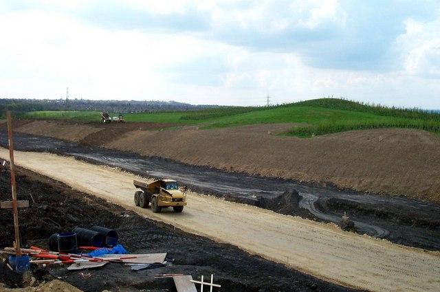 New A1 link road under construction © derek dye :: Geograph Britain