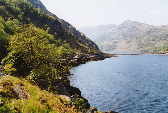 Southern shore of Loch Hourn