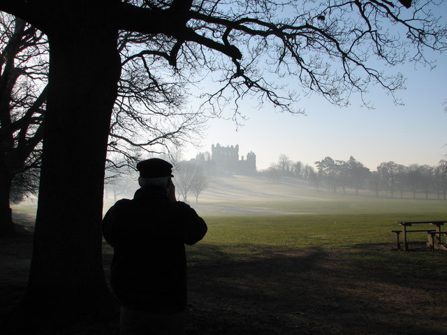Wollaton Hall in early winter mist