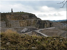 SK3455 : Quarry near Crich Stand by Eric Foxley