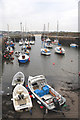 NT5585 : North Berwick harbour at low tide by John Haddington