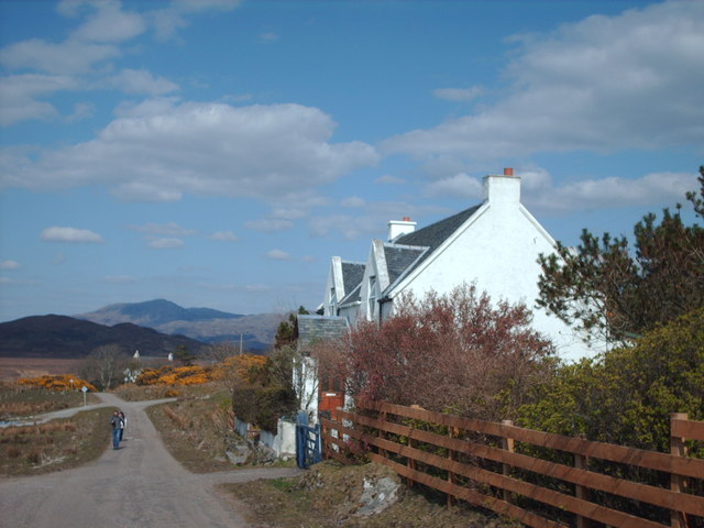 Road Next To Kinloid Cottage