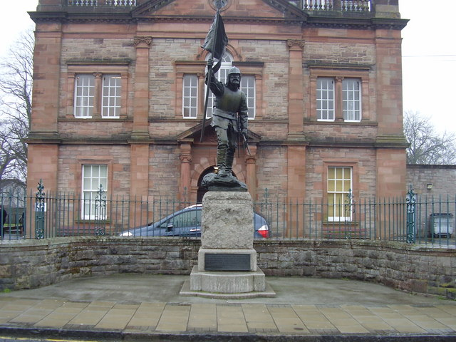Statue in Selkirk, commemorating the disastrous Battle of Flodden
