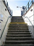 NN3039 : Stairs, Bridge of Orchy station by Richard Webb