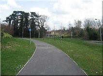 SU6350 : Cycle path alongside Jays Close by Given Up