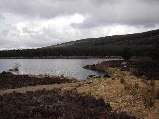 Fishing Hut and boats, Loch Kinardochy