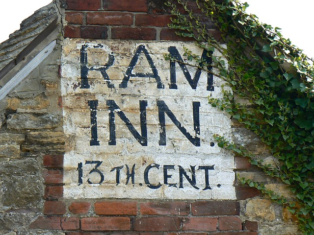Ram Inn pub sign, Potters Pond, Wotton under Edge