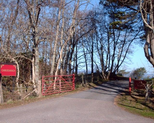 Entrance To Camusdarach Campsite