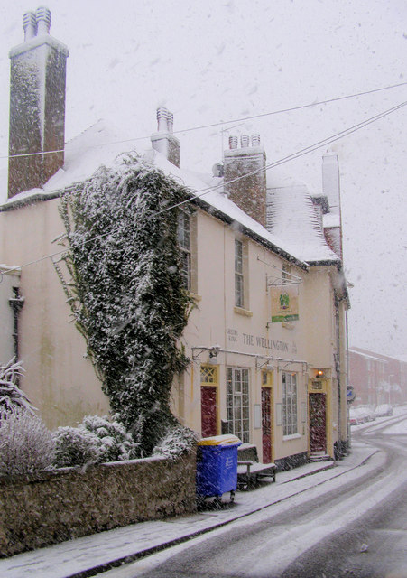 The Wellington Pub from the High Street, Seaford, East Sussex