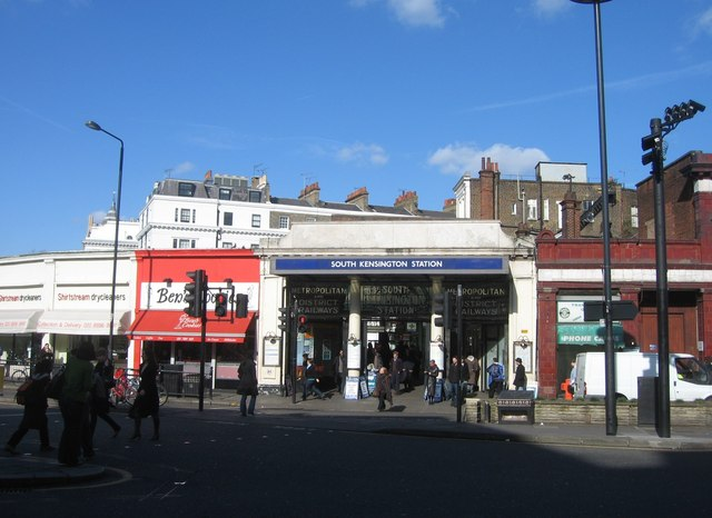 Southern entrance to South Ken tube station arcade