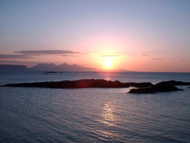 Sunset Over Rum