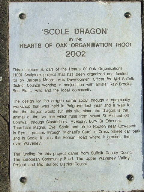 Scole dragon info sign by Keith Evans