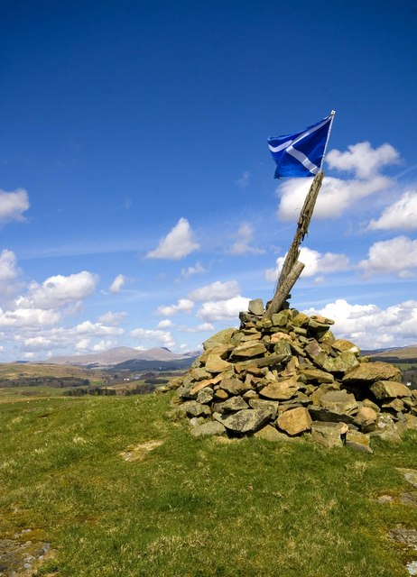 The Cairn on Waterside Hill, Cairnsmore of Carsphairn in Background