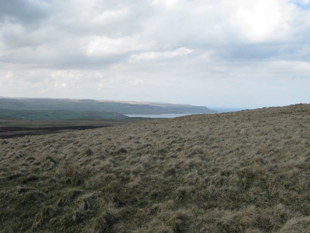 West slope of Black Hill looking towards Carnlough Bay