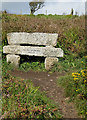 SW4625 : Millennium seat on the South West Coast Path by Pauline E