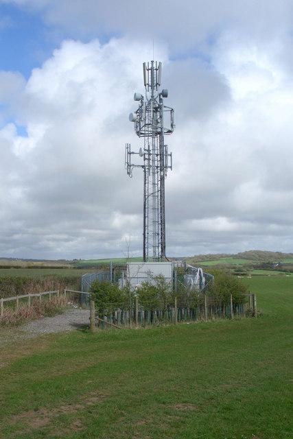 Mobile phone base station, Heol-y-Broom