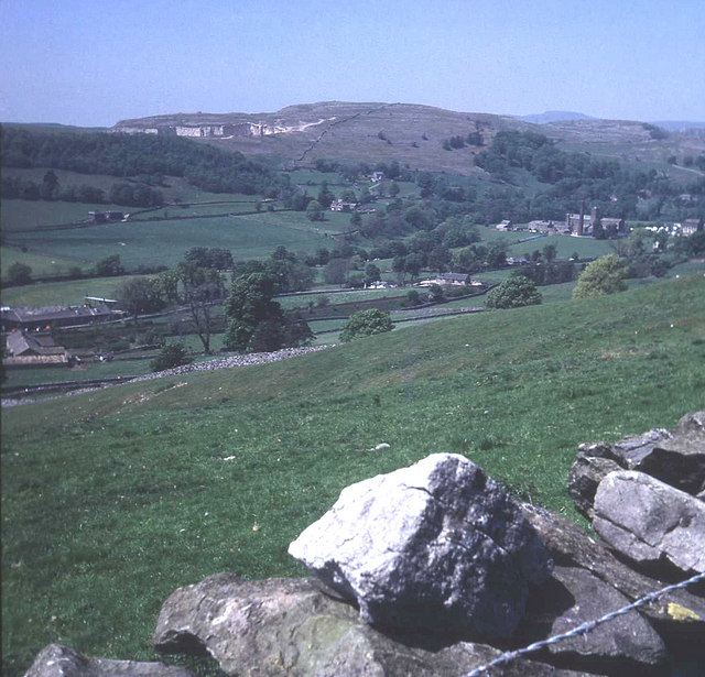 Hillside above Settle and the Langcliffe mills